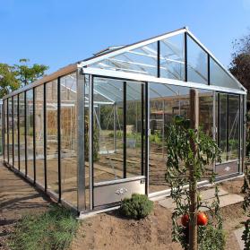 Serre en verre trempé Lams SUPRA 27,80 m² - Aluminium naturel
