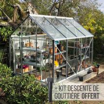 serre de jardin en verre trempé et structure aluminium - Allium 5000 - lams