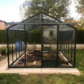 Serre en verre trempé Lams ESSENTIA 16,40 m² - Aluminium naturel