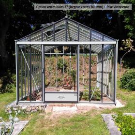 Serre en verre trempé Lams LUXIA 11,80 m² - Coloris au choix