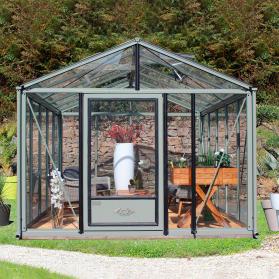 Serre en verre trempé Lams SUPRA 16,70 m² - Coloris au choix