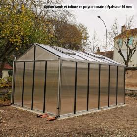 Serre en verre trempé Lams SUPRA 14,40 m² - Aluminium naturel