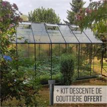 Serre de jardin Lams LAURUS 12,90 m² - Gris anthracite