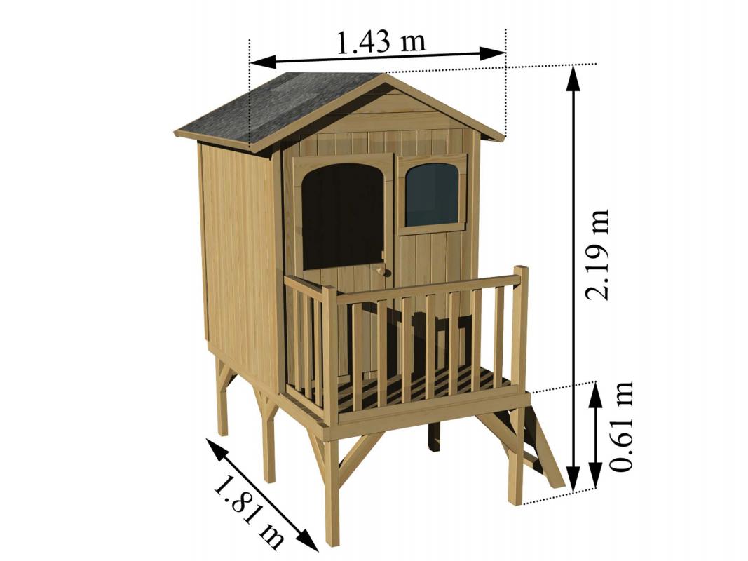 maisonnette bois sur pilotis soulet. Black Bedroom Furniture Sets. Home Design Ideas