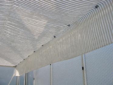 Toile avec bandes alu - Largeur 3.50 m - au mètre linéaire