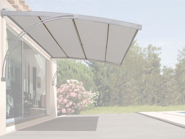 Toile en polyester gris 230 g/m²