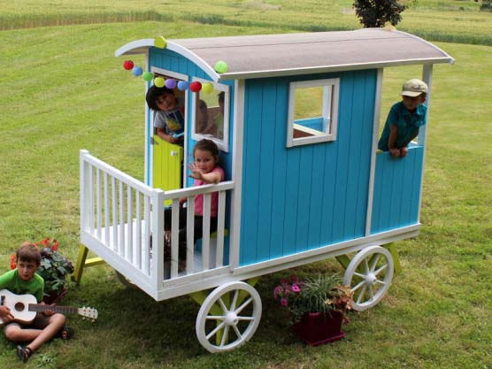 Une roulotte qui invite au voyage !