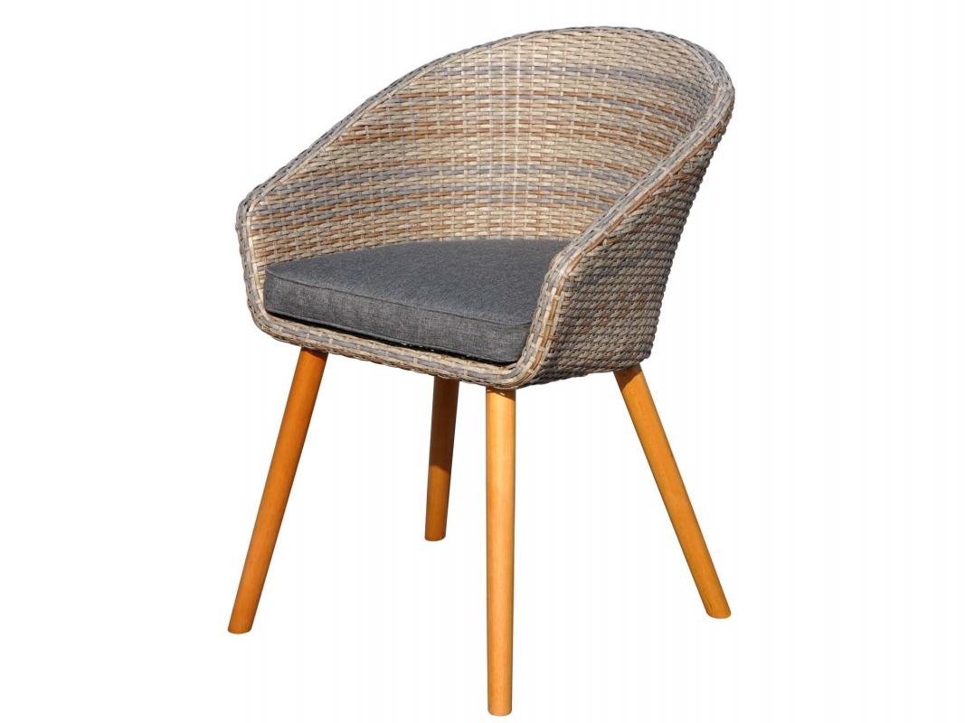 fauteuil danang r sine tress e et teck. Black Bedroom Furniture Sets. Home Design Ideas