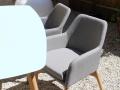 Assise et coussin en Nano-Tex® déperlant pour un usage en extérieur