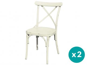 Chaise VINTAGE crème (Par lot)