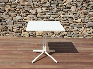 Table plateau basculant blanc