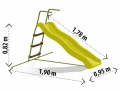 Dimensions du toboggan
