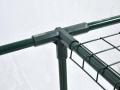 Structure en tubes en acier traité époxy coloris vert Ø 16 mm