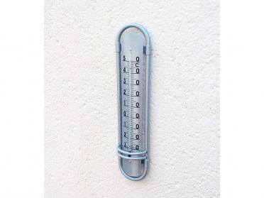 Thermomètre aluminium H. 38 cm