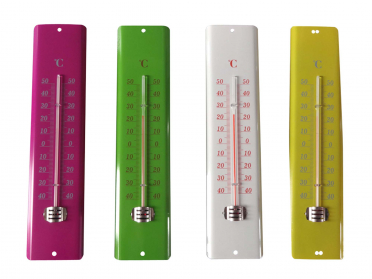 Thermomètre acier H. 30 cm