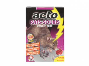Bloc d'appât pour rats et souris