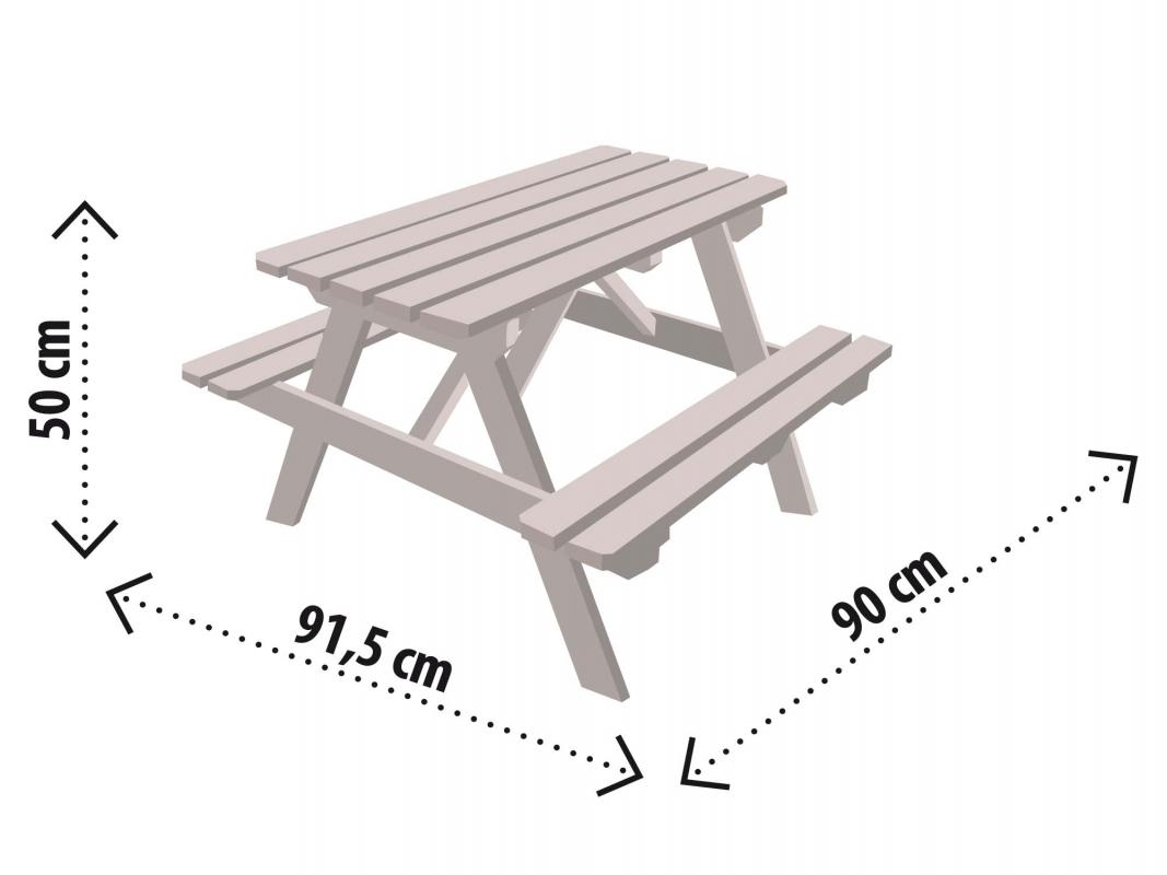 Table Pique Nique Enfant Soulet