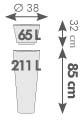 pot haut alto diamètre 38 x H. 85cm