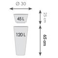 pot haut alto diamètre 30 x H. 65cm