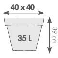 pot cléo carré 40 x 40