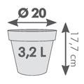 Pot Cléo rond diamètre 20 x H.17.7cm