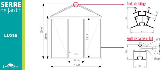 Dimensions Luxia 2,36 m