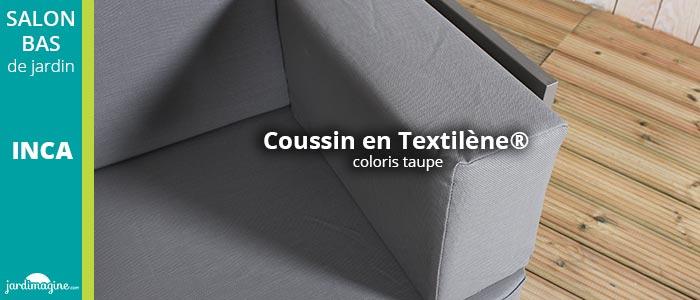salon de jardin coussin en textilène
