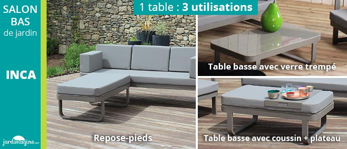 table basse salon de jardin