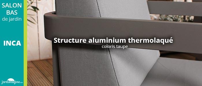 struture en aluminium salon de jardin