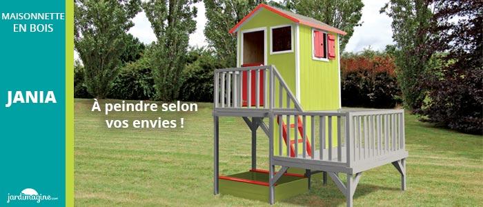 maisonnette en bois Jania - Maisonnette sur 2 niveaux