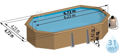 dimensions piscine bois hors sol vermela sunbay