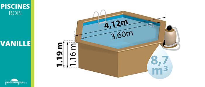 Petite piscine hors sol modèle vanille de la marque SUNBAY
