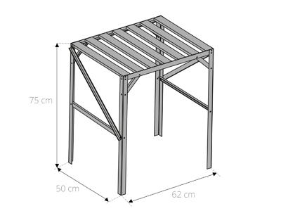 table étagère pour serre de jardin 1 plateau