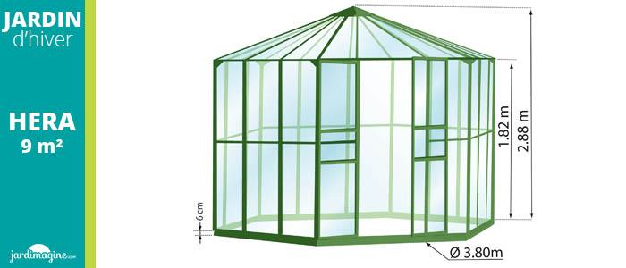 Jardin d'hiver 9m² coloris vert