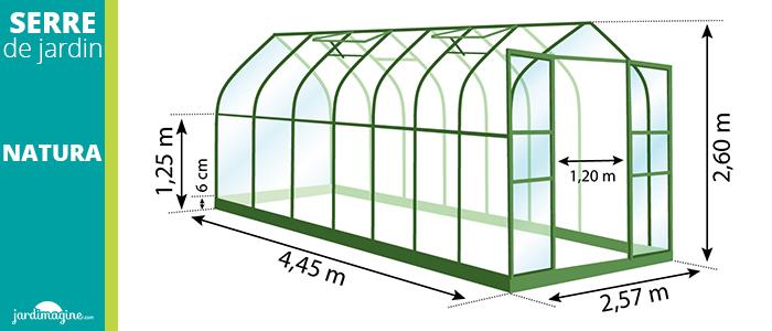 serre 11,45m² - serre de jardin en verre trempé et structure aluminium laqué verte