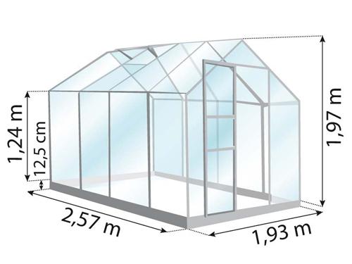 Serre de jardin Vénus 500 dimensions