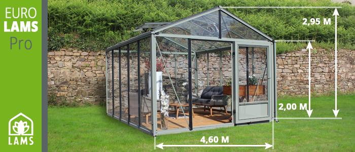 Dimensions serre de jardin eurolams pro