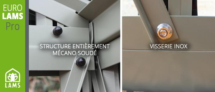 Serre de jardin en aluminium EuroLams - Structure alu zoom