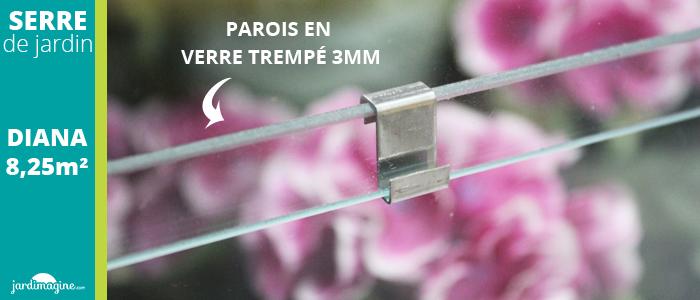 serre verre trempé 3mm