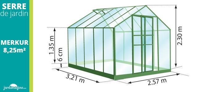serre en verre 8m2 lams merkur 8300