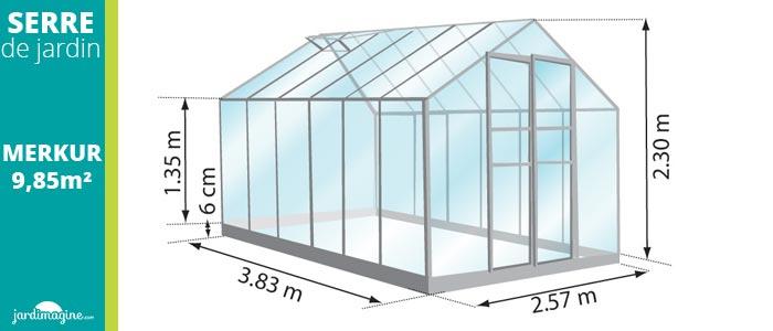 serre 9m² - serre de jardin en verre trempé et structure aluminium