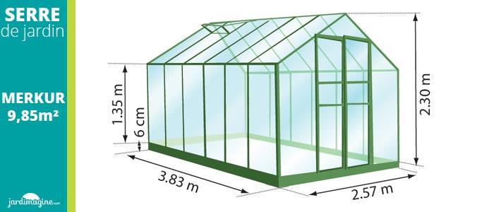 serre de jardin couleur verte en verre