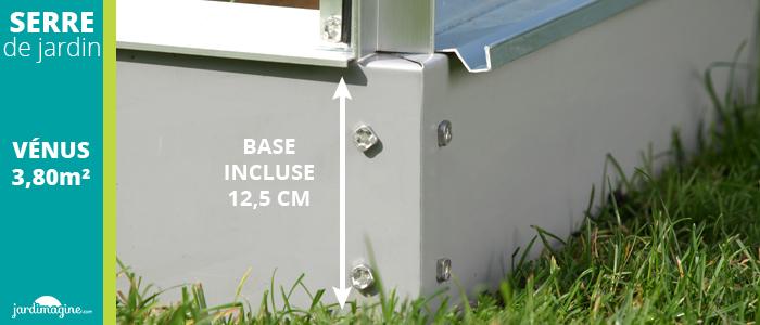 base pour serre de jardin hauteur 12,5 cm
