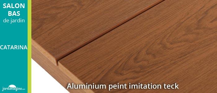 Salon bas CATARINA en aluminium et résine tressée
