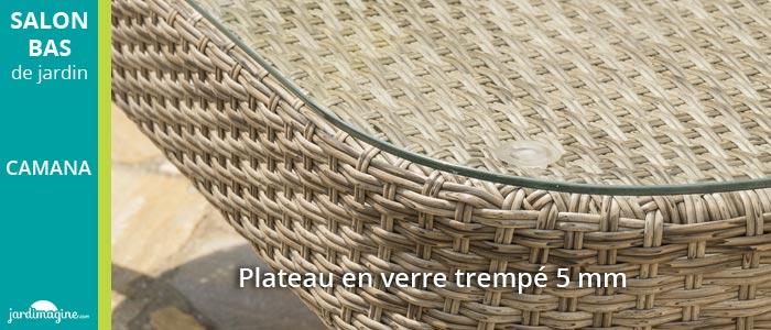 table basse pour salon de jardin bas CAMANA