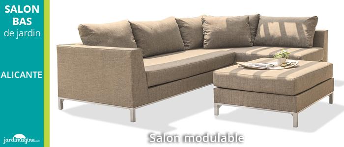 Salon bas modulable ALICANTE en aluminium