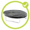 bache de protection tapis de saut de trampoline