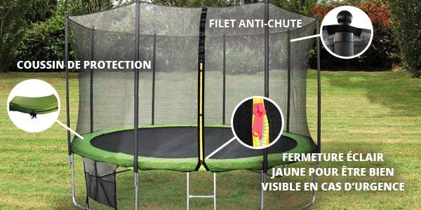Sécurité trampoline