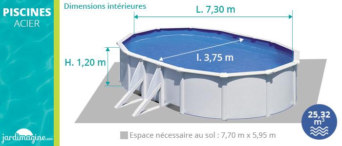 piscine hors sol acier 7 x 3 gré