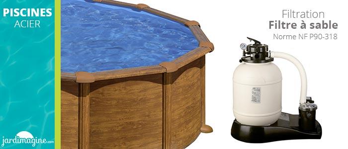filtration à sable piscine amazonia